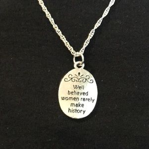 Handmade Inspirational Silver Necklace 🚺
